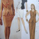Uncut Plus Size Sewing Pattern 6994 Scallop Jacket & Skirt Suit Sz 20 22 24