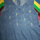 Laura Ashley Mother & Child Girls 6 Denim Jumper Dress Jeans Sundress