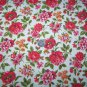 Vintage Barkcloth Cotton Fabric Floral Roses Flowers By The Yard Thurston Lowenstein Material
