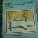 Vintage Bucilla Craft Kit Winter Twilight Picture Snowy Winter Scene Barn Ranch House 2395