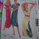 Uncut Sue Wong Dress Sewing Pattern 7061 Petite 6 8 Blouson Pullover Wrap Bodice