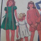 Vintage Girls Sewing Pattern 4846 Flared Short or Maxi Dress Puff Cap or Long Sleeves