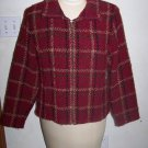 Womens Zip Front Jacket Weave of The Irish Burnt Red Long Sleeves Handcraft In Ireland