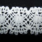 5 Yards Vintage Lace Western Germany Flat White Scalloped Trim 1 3/4 wide