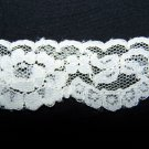9 + Yards Vintage White Double Scalloped Swag Lace Trim 1 1/2 wide