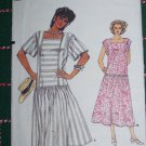 Vintage Vogue Uncut Sewing Pattern 9241 Misses Loose Dress Dirndle Skirt Panel Bodice 12 14 16