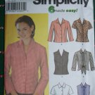 6 Made Easy Misses Blouse Shirt Tops 6 8 10 12 Uncut Sewing Pattern 7086