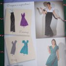 Uncut Simplicity Sewing Pattern 2549 Misses Designer inspired Evening Day Dress 14 16 18 20 22