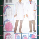 New Dr Nurse Professional Uniform Scrubs Sewing Pattern 5287 Lab Coat Skirt Shorts Pants XS S M