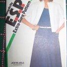 Uncut Vintage Misses Flared Skirt Dress & Short Sleeve Bolero 8 10 12 Sewing Pattern 6401