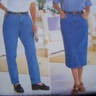 Free USA S&H Womens Jeans & Straight Skirt 22 24 26 W Delta Burke Sewing Pattern 5600