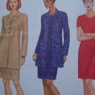 Free USA S&H Uncut Womans Plus Size 20 22 24 Dress & Long Unlined Jacket Sewing Pattern 5745