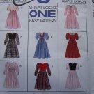 Free USA S&H Uncut 8 Girls 4 5 6 Empire Waist Dress Sewing Patterns McCall's 7901