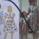 Uncut Girls 7 8 10 12 Gunne Sax Dress Jessica McClintock Simplicity Sewing Pattern 8255 Free USA S&H