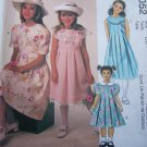Girls 3 4 5 Uncut Sewing Pattern 2052 Fancy DRESS Church Holiday Sleeveless Short Sleeves