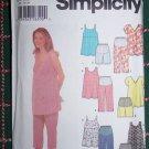 Misses 4 6 8 10 Maternity Summer Wardrobe Shirts Stretch Panel Capri Pants Shorts 5610