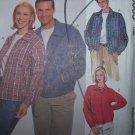 Uncut Mens & Womens Unlined Lightweight JACKET McCall's Sewing Pattern 8685