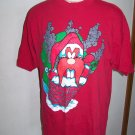 Vintage Red Ugly Christmas T Shirt Yosemite Sam Santa Chimney Blaze Mens Womens Large