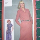 Misses Uncut Vintage Shirtwaist Dress Front Tuck Shoulders Bust 34 Sewing Pattern 9724