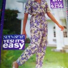 Uncut Vintage Loose Fit Top Elastic Tapered Pants Easy Sewing Pattern 6256 XS X M L XL