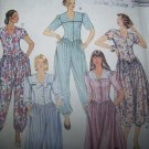 Uncut 90's Womens 12 14 16 Capri & Pants Jumpsuit Tea Length Dress Sewing Pattern 5210