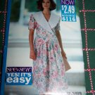 Uncut Easy Sewing Pattern 6116 Misses 12 14 16 BIG Collar Jacket Top & Above Knee Skirt