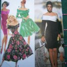 Uncut Simplicity Sewing Pattern 7440 Misses DRESS Off Shoulder Cocktail Evening 4 6 8 10