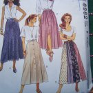 Vintage Uncut McCall's Sewing Pattern 6962 Misses Tea Length SKIRTS Front Buttoned 8 10 12
