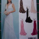 Uncut New Look Sewing Pattern 6401 Halter Wedding Gown Back Variations Corset Cross Straps +