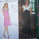 Uncut Jessica McClintock Dress Sewing Pattern 9902  Off Shoulder V Shaped Empire Waist 6 8 10