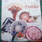 Vintage New Dimensions in Doilies Patterns to Create Pillows Ornaments Hats Fans Sachet Box Plus