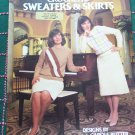 Womens vintage Crocheting Patterns Pullover Sweaters & Skirts Slim A Line Sport Weight Yarn