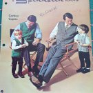 Spinnerin Vintage Mens & Boys Popover Crochet Patterns Sweater Vests For Father Son