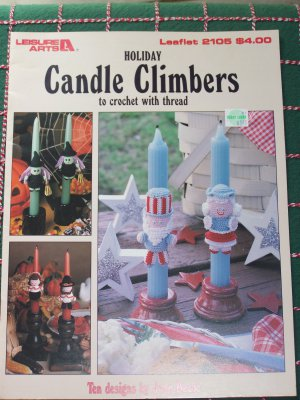 Thread Crochet Patterns Holiday Candle Climbers Christmas Thanksgiving Halloween