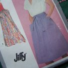 Uncut Vintage Sewing Pattern 9577 Easy Back Wrap Skirts Jiffy Knee or Maxi Length