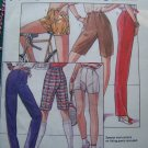 Womens Vintage 80's High Waist Pants Shorts Sewing Pattern 7418 Free USA Shipping