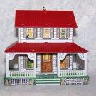 "New 1991 Metal Hallmark Keepsake Ornament ""Farm House-Town & Country"" Pressed Tin"
