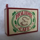 "New Hallmark Christmas Ornament Keepsake Matchbox Memories ""Holiday Cafe"" 1991 BRAND NEW"
