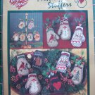 New 1990s Need'l Love Warm Wooly Mitten Stuffers Christmas Ornaments Craft Kit