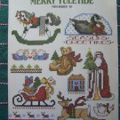 Leisure Arts 594 Merry Yuletide 45 Christmas Cross Stitch Patterns Free USA S&H