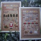A Folk Art Christmas Cross Stitch Embroidery Samplers Patterns 2287