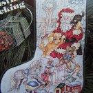Vintage Cross Stitch Toys of Christmas Stocking Pattern Chart Santa