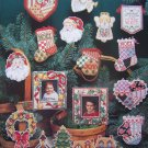 18 Vintage Dimensions Christmas Cutouts Cross Stitch Patterns Ornaments Frames Gift Ties