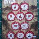 10 Vintage Christmas Cross Stitch Ornament Patterns Church Lamp Post Fireplace Santa # 6