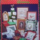 20 Vintage Counted Cross Stitch Christmas Patterns Ornaments Sampers Pillows Towels