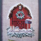 New Raspberry Patch Cross Stitch Birdhouse Series # 3 Winter Snow Barn Scene
