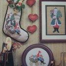 New Father Christmas Stocking Cross Stitch Patterns Old World Antique Santa