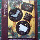 Need'l Love American Folk Art Patterns Wool Penny Rug Mat Chair Pad Pincushion