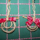 20 Lasso Christmas Ornaments Lot Red Bandana Bows