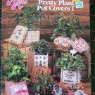 Annie's Attic Plastic Canvas Patterns Book Pretty Plant Pot Covers I Boxes